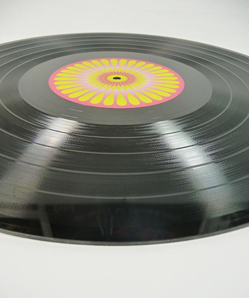 Vinyl with color center labels